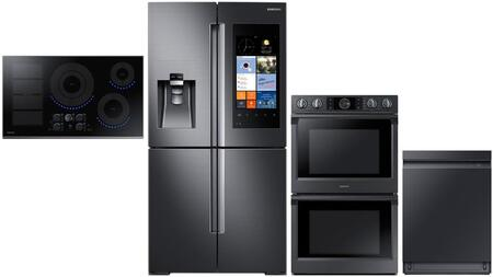 3 Piece Kitchen Appliance Package with RF22K9581SG 36