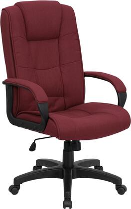 GO-5301B-BY-GG High Back Burgundy Fabric Executive Office