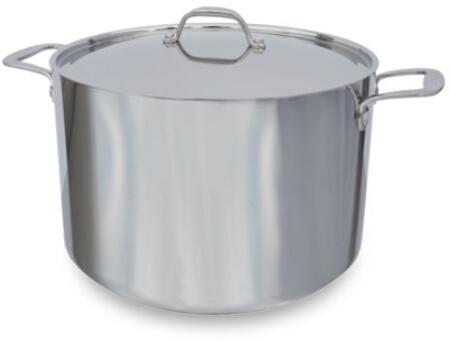 24 Qt. Tri-Ply Impact-Bonded Induction Brazier with Lid in Stainless
