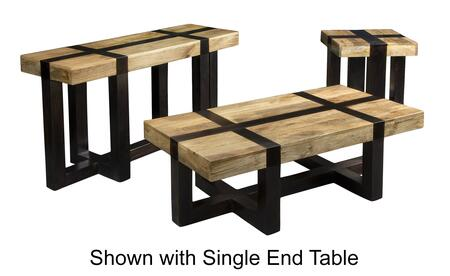 75314PCRC2SERNKIT1 4-Piece Living Room Table Sets with Coffee Table  2x End Table and Console Table in Tahoe Natural and Dark