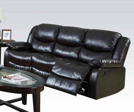 50560 Fullerton Motion Sofa with Recliner Mechanism  Plush Padding and Bonded Leather Upholstery in
