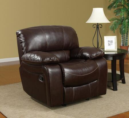 U8122-Burgundy 950-R Glider Recliner  Bonded Leather Upholstery  Plush Seats/Back/Arms with Reclining Mechanism  in