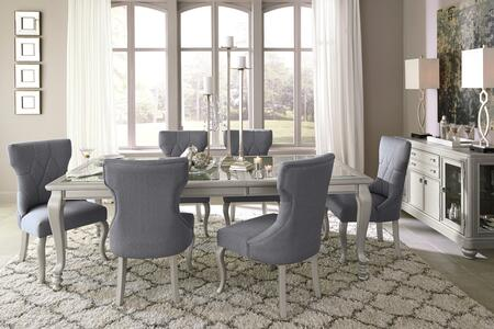 Coralayne Collection 8-Piece Dining Room Set with Rectangular Dining Table  6 Side Chairs and Server in