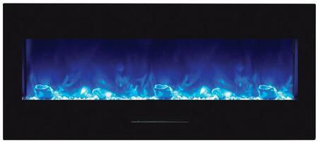 Amantii Wall Mount/Flush Mount Series Electric Fireplace with Log Set (WM-FM-50-BG), 50