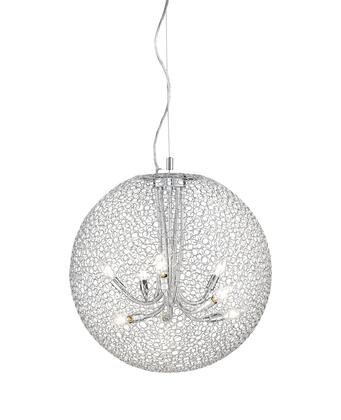 Saatchi 175-24 24 inch  8 Light Pendant Novelty  Whimsicalhave Steel Frame with Chrome finish in