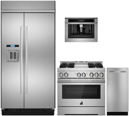 4 Piece Kitchen Appliance Package with JS42SSDUDE 42