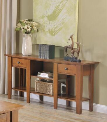 Ezra_Collection_5950ST_Sofa_Table_with_2_Drawers__Bookshelf__Bottom_Shelf__Solid_Hardwood_Construction__Oak_Veneer_and_Poplar_Material_in_Oak