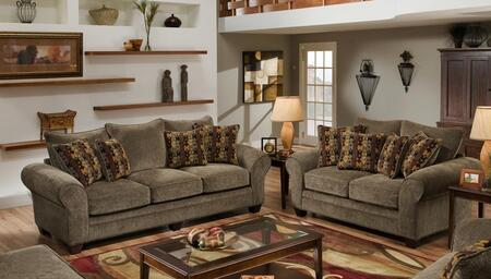 1837033953SL Clearlake Sofa + Loveseat with 16 Gauge Border Wire  Palmero Mosaic Toss Pillows  Kiln Dried Hardwood Frames and Hi-Density Foam Core Cushions in