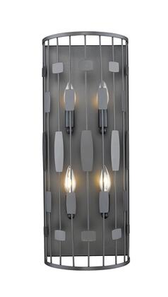 Almet 430-4S-BRZ 9.25 4 Light Wall Sconce Contemporary Metropolitanhave Steel Frame with Bronze
