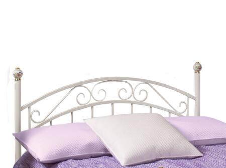 Emily 1864HFR Full Sized Bed with Headboard  Frame  Scrollwork and Metal Construction in White
