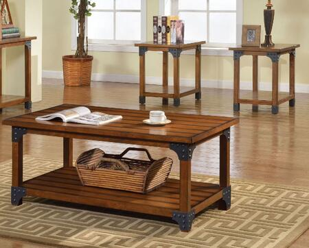 Bozeman Collection CM4102-3PK 3-Piece Living Room Table Set with Coffee Table and 2 End Tables in Antique