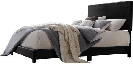 Lien Collection 25730Q Queen Size Panel Bed with 4 Slats Included  Low Profile Footboard  High Headboard  Supporting Wood Legs and Bycast PU Leather Upholstery