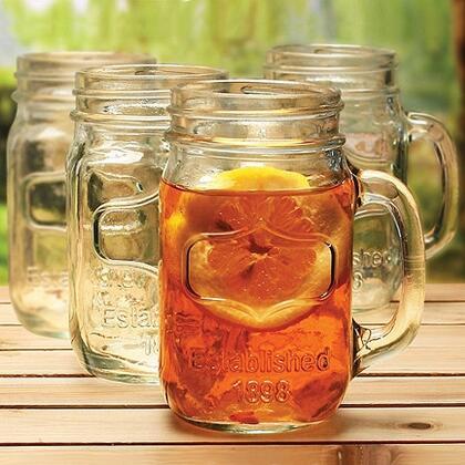 07351004 Mason Jar Glass(Set Of