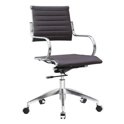 FMI10209-dark brown Flees Office Chair Mid Back  Dark