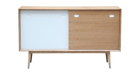 STO-SB-ELRY-AK2830NT Elroy Credenza Cabinet  Mid-Century Modern Sideboard  Natural