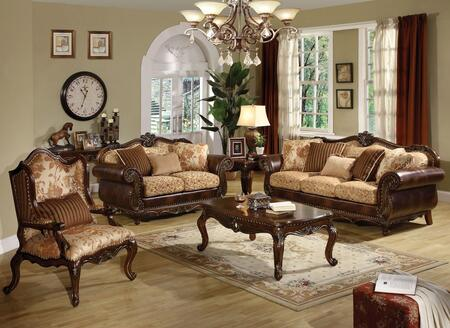 Remington Collection 50155SET 6 PC Living Room Set with Sofa + Loveseat + Chair + Coffee Table + End Table + Sofa able in Cherry
