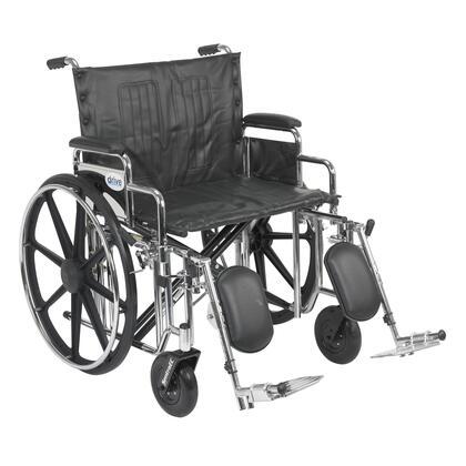 std24dda-elr Sentra Extra Heavy Duty Wheelchair  Detachable Desk Arms  Elevating Leg Rests