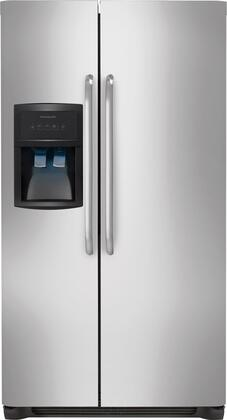 Frigidaire FFHS2322MS Refrigerator/Freezer - 22.60 ft - Auto-defrost - 14.20 ft Net Refrigerator Capacity - 8.30 ft Net Freezer Capacity - 549 kWh per Year - Stainless Steel, Black 224940020
