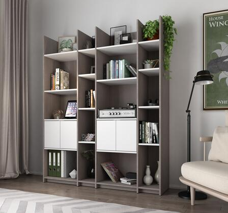 16854-47 Small Space Storage Wall Unit in Bark Gray and