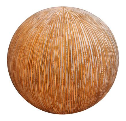 "SGS-3003 Sandstone ribbed finish ball with light for outdoor use 17"""" x"" 441927"