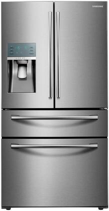 """RF22KREDBSR 36"""" Energy Star Rated Counter-Depth French Door Refrigerator with 22.4 cu. ft. Capacity  Food Showcase door  Digital Touch Controls  Water and Ice"""