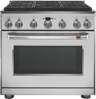 GE CGY366P2MS1 Caf0233 6.2 Cu. Ft. Stainless 6 Burner Professional Gas Range