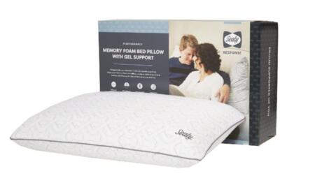Sealy Response Collection F01-00404-ST0/PAK4 Pack of 4 Standard Size Memory Foam Pillow with Gel Support  Dual-Benefit Support and Removable Washable Cover in