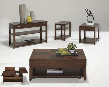 Daytona P531-04-05-25-29 4-Piece Set with End Table  Sofa Table  Cocktail Table and Chairside Table in Regal
