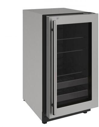 U-2218BEVS-13A 18 inch  2000 Series Beverage Center with 3.4 cu. ft. Capacity  Convection Cooling System  Black Interior with LED Lighting  2 Wine Racks  in