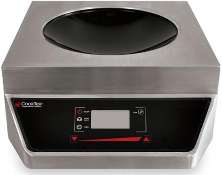 MW2500G Apogee Counter Top Wok with LED Display For Power Level  Rotary Knob Foe Easy Control  Clean Interface  Glass-Ceramic Bowl and Stainless Steel