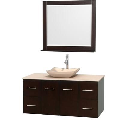 Wcvw00948sesivgs2m36 48 In. Single Bathroom Vanity In Espresso  Ivory Marble Countertop  Avalon Ivory Marble Sink  And 36 In.