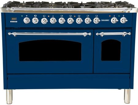 HGR4802DFBU 48 inch  Dual Fuel Natural Gas Range with 7 Sealed Burners  5 cu. ft. Total Capacity True Convection Oven  Griddle  in