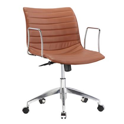 FMI10224-light brown Comfy Office Chair Mid Back  Light