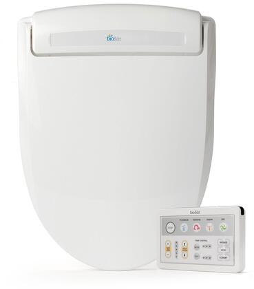 BB-1000R Supreme Series Advanced Round Bidet Toilet Seat  Ergonomic Design  Warm Water  Heated Seat  3 in 1 Nozzle  4 Level Pressure Control  Self Clean