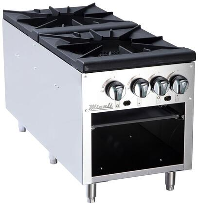 C-SPS-2-18 18 inch  Competitor Series Commercial Stock Pot Stove with 2 Burners  Heavy Duty Cast Iron Trivet  Stainless Steel Construction  and Chrome Knobs  in