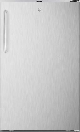 FS408BLXSSTB 20 inch  Upright Freezer with 2.8 cu. ft. Capacity  Pull-Out Drawers  Adjustable Thermostat and Flat Door Liner  in Stainless Steel with Towel Bar