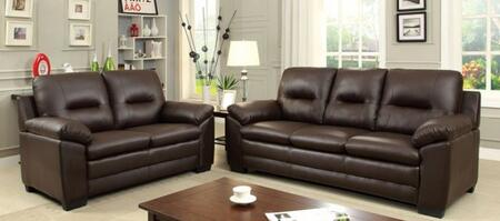Parma Collection CM6324BR-SL 2-Piece Living Room Set with Stationary Sofa and Loveseat in