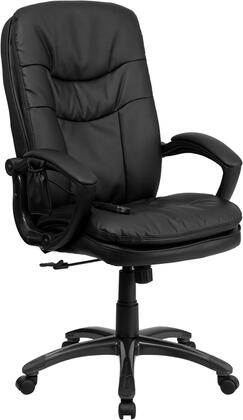 BT-9585P-GG Mid-Back Massaging Black Leather Executive Office
