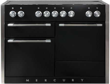 "AMC48INMBL 48"" Freestanding Range with 5 Induction Burners 3700 Watt Boost Three Ovens Hi-Fi Knobs Controls 8-Pass 2500 Watt Broiler and Extendable Gliding"