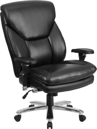 GO-2085-LEA-GG HERCULES Series 24/7 Intensive Use  Multi-Shift  Big & Tall 400 lb. Capacity Black Leather Executive Swivel Chair with Lumbar Support