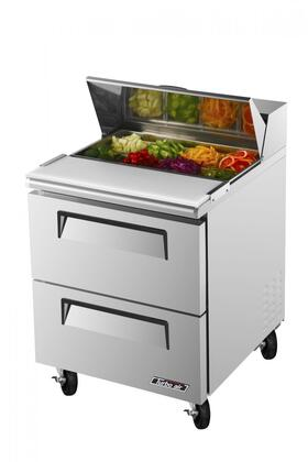 TST28SDD2 7 cu. ft. Sandwich and Salad Unit with 2 Drawers  Cold Air Compartment  Convenient Cutting Board Side Rail  Hot Gas Condensate System and Stainless