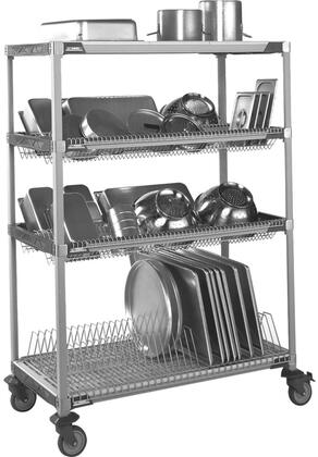 PR48VX3 26 inch  MetroMax I Mobile Drying Rack Unit with 1 Cutting Board/Tray Drying Rack  2 Drop-Ins  and Built-In Microban Antimicrobial Product
