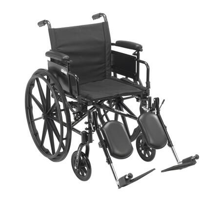 cx418adda-elr Cruiser X4 Lightweight Dual Axle Wheelchair With Adjustable Detachable Arms  Desk Arms  Elevating Leg Rests  18