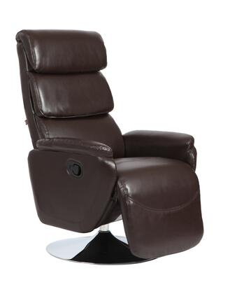 70133-CHOCOLATE Torino Zerostrain Recliner w/ Swivel Chrome Base in