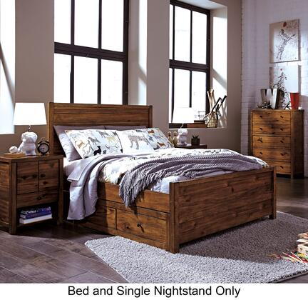 Fennison Full Bedroom Set With Storage Bed  And Nightstand In Light