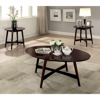 Selah Collection CM4303-3PK 3 Pc. Table Set with Coffee Table and 2x End Tables in Brown
