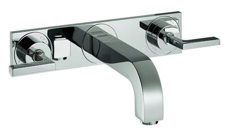 39148001 Axor Citterio Wall Mounted Bathroom Faucet with Metal Lever Handles: