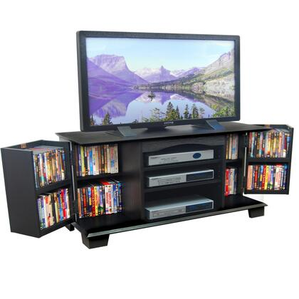 W60C73BL 60 Black Wood TV Stand