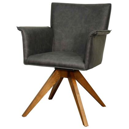 Addison Collection 448241P-758-W Chair with Walnut Legs  360 Degree Swivel and PU Upholstery in Antique
