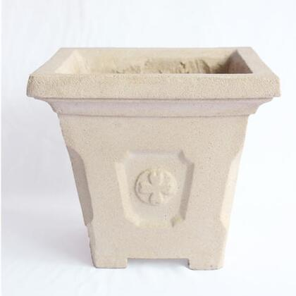 Amalfi Collection PL-S1010 10 Square Planter with Cast Limestone Construction and Traditional Design in Natural
